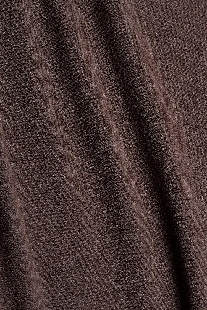 Strickkleid mit Gürtel und LENZING™ ECOVERO™, DARK BROWN, detail image number 4