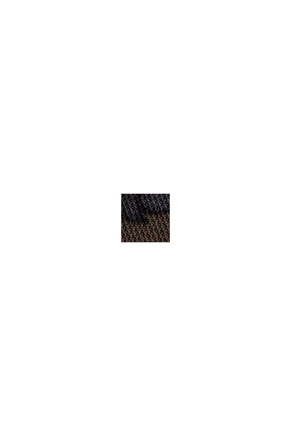 Robe évasée en mesh à imprimé, DARK BROWN, swatch