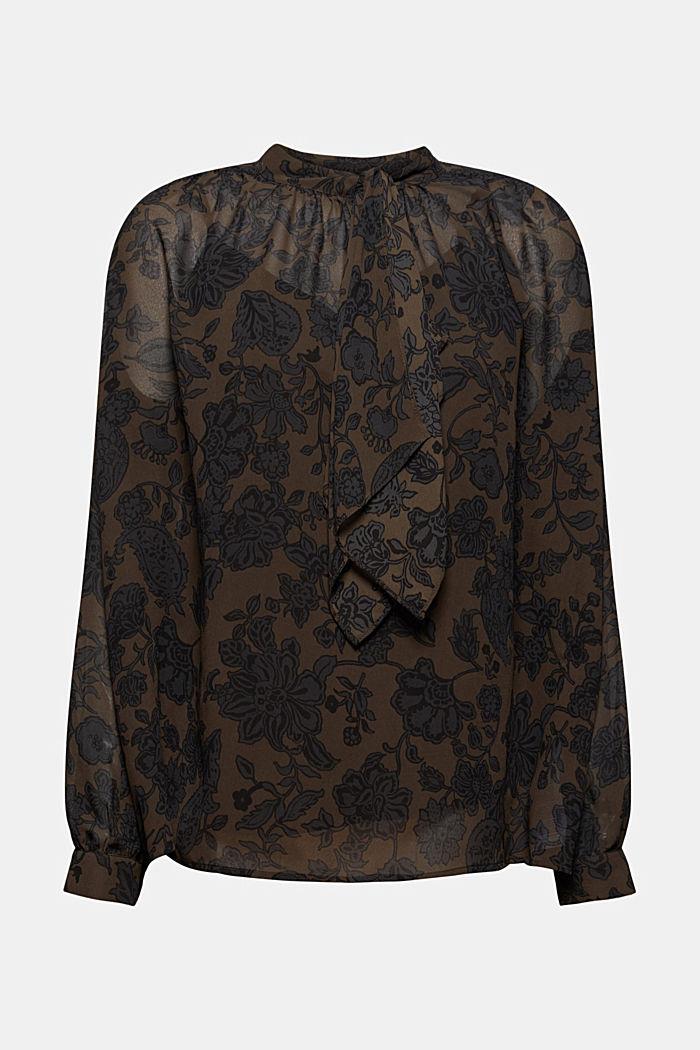 Recycelt: Schluppen-Bluse aus Chiffon