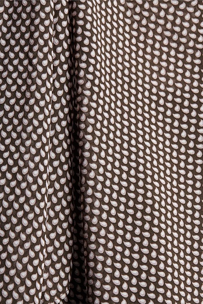 En matière recyclée: le chemisier à lavallière en mousseline, BROWN, detail image number 4