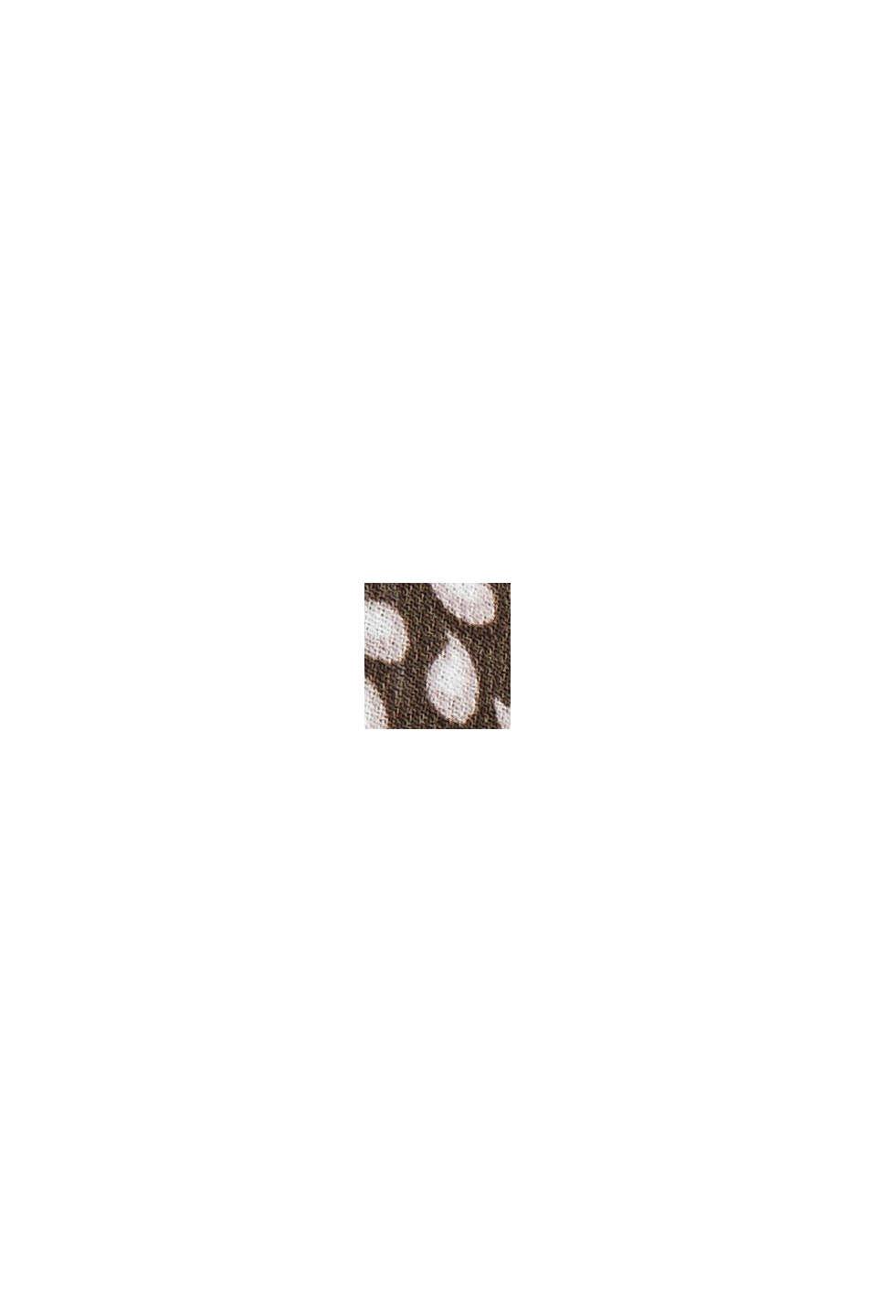 Recycelt: Schluppen-Bluse aus Chiffon, BROWN, swatch