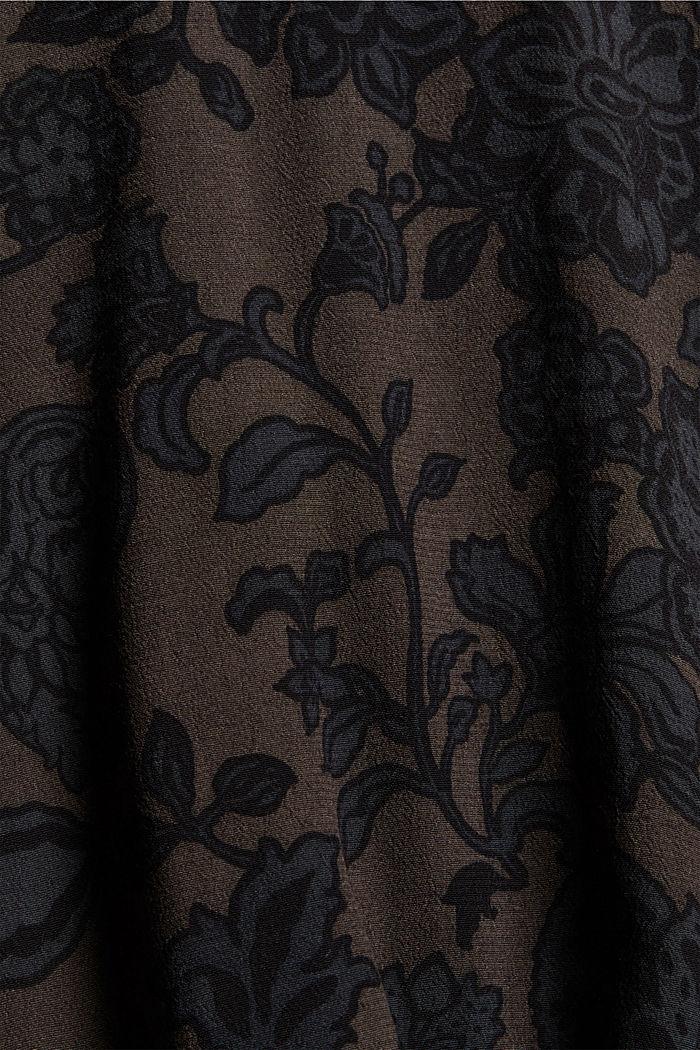 Bluse mit Blumen-Print und LENZING™ ECOVERO™, DARK BROWN, detail image number 4
