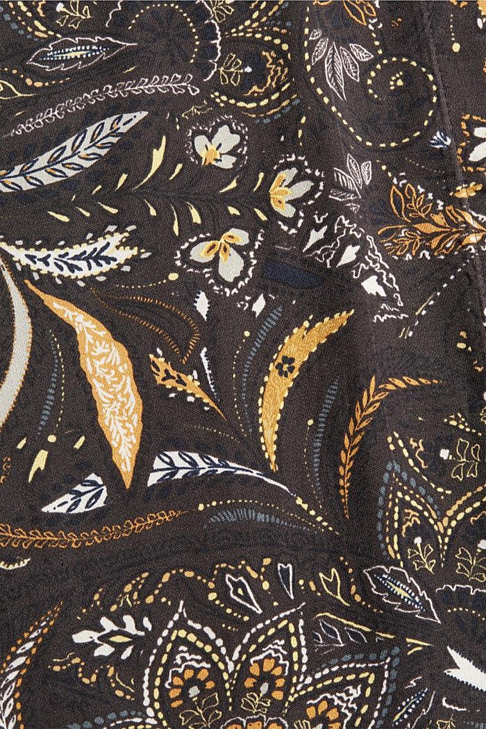Chemisier en satin à teneur en fibres LENZING™ ECOVERO™, BROWN, detail image number 4