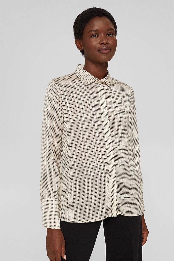 Glittering semi-sheer chiffon blouse, ICE, detail image number 0
