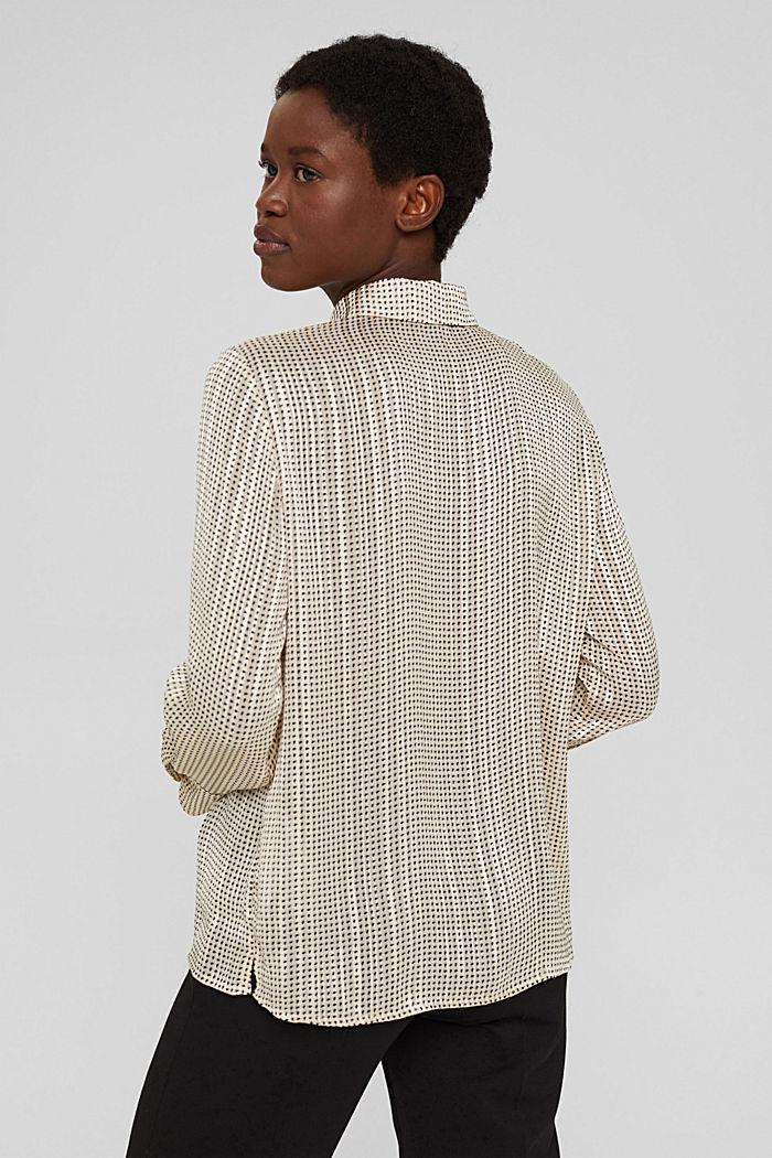 Glittering semi-sheer chiffon blouse, ICE, detail image number 3