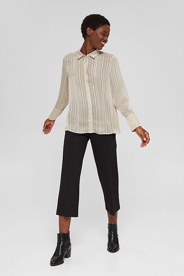 Glittering semi-sheer chiffon blouse, ICE, detail image number 1