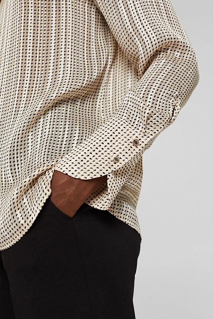 Glittering semi-sheer chiffon blouse, ICE, detail image number 2
