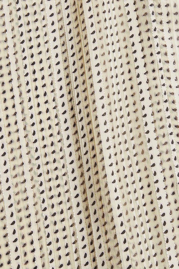 Glittering semi-sheer chiffon blouse, ICE, detail image number 4