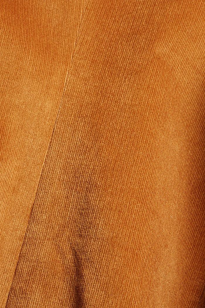 Long needlecord blazer, CARAMEL, detail image number 4