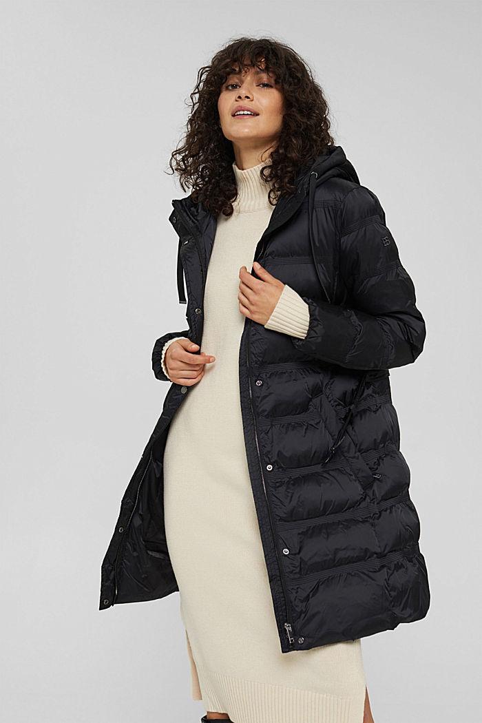 Coats woven regular, BLACK, detail image number 0