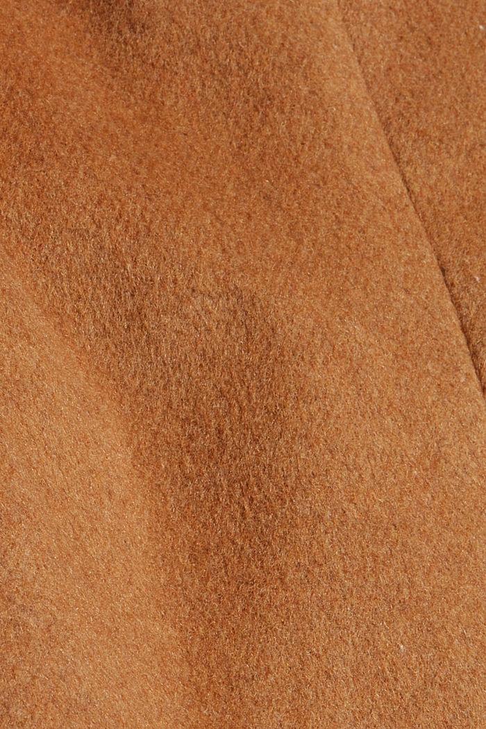 Recycelt: Woll-Mix Mantel mit Kapuze, CARAMEL, detail image number 4