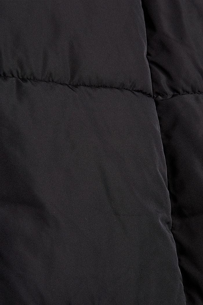 Recycelt: Steppmantel mit 3M™ Thinsulate™, BLACK, detail image number 4