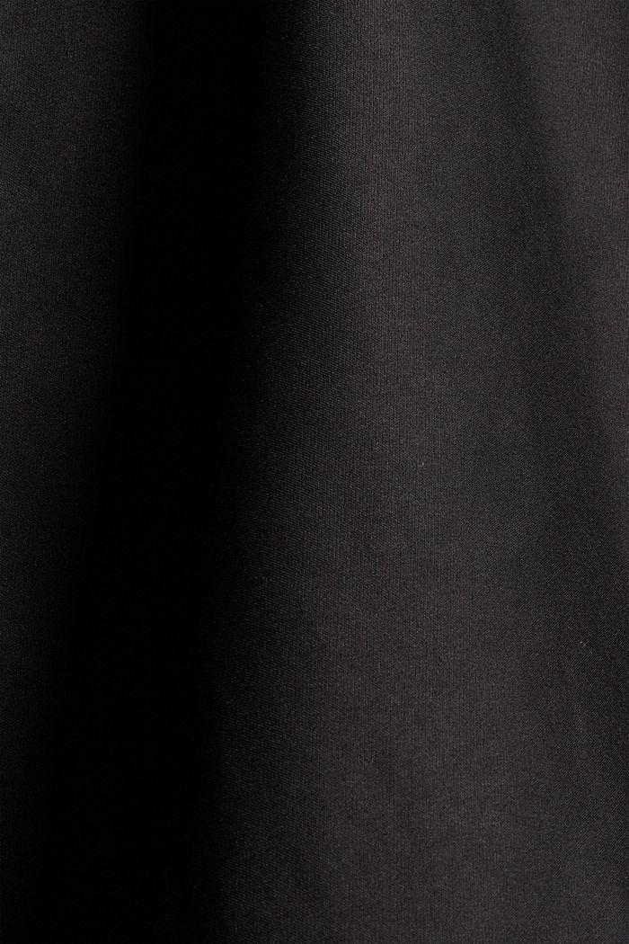 Gewatteerde parka met imitatiebont en ceintuur, BLACK, detail image number 4