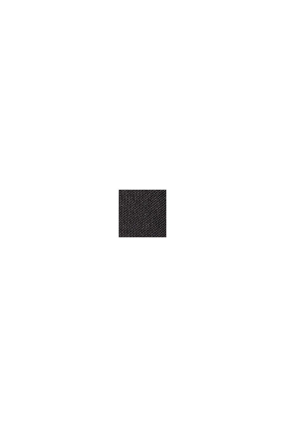 Vadderad parkas med fuskpäls och skärp, BLACK, swatch