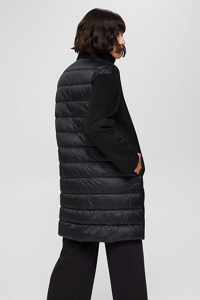 Egg-shaped mantel van een materiaalmix, 3M™ Thinsulate™, BLACK, detail image number 3