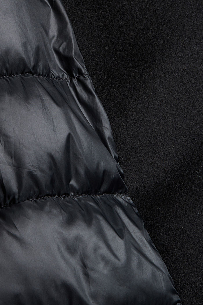 Egg-shaped mantel van een materiaalmix, 3M™ Thinsulate™, BLACK, detail image number 4