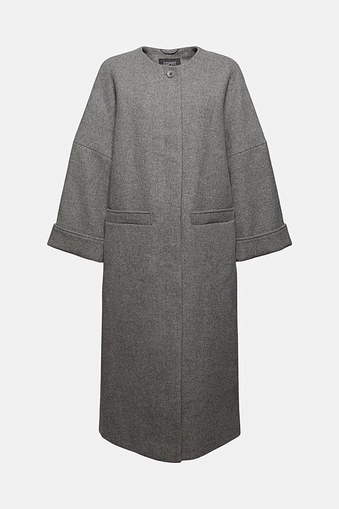 En laine mélangée: le manteau long