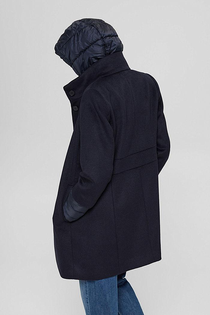 Manteau en mélange de matières, garni de 3M™ Thinsulate™, NAVY, detail image number 3