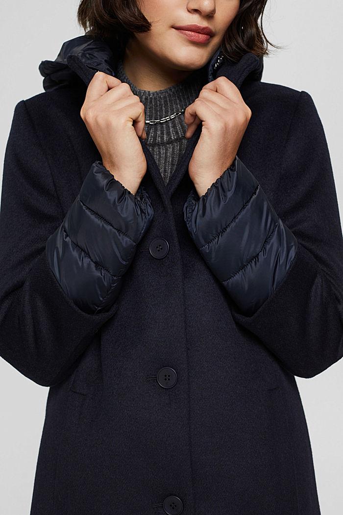 Manteau en mélange de matières, garni de 3M™ Thinsulate™, NAVY, detail image number 2