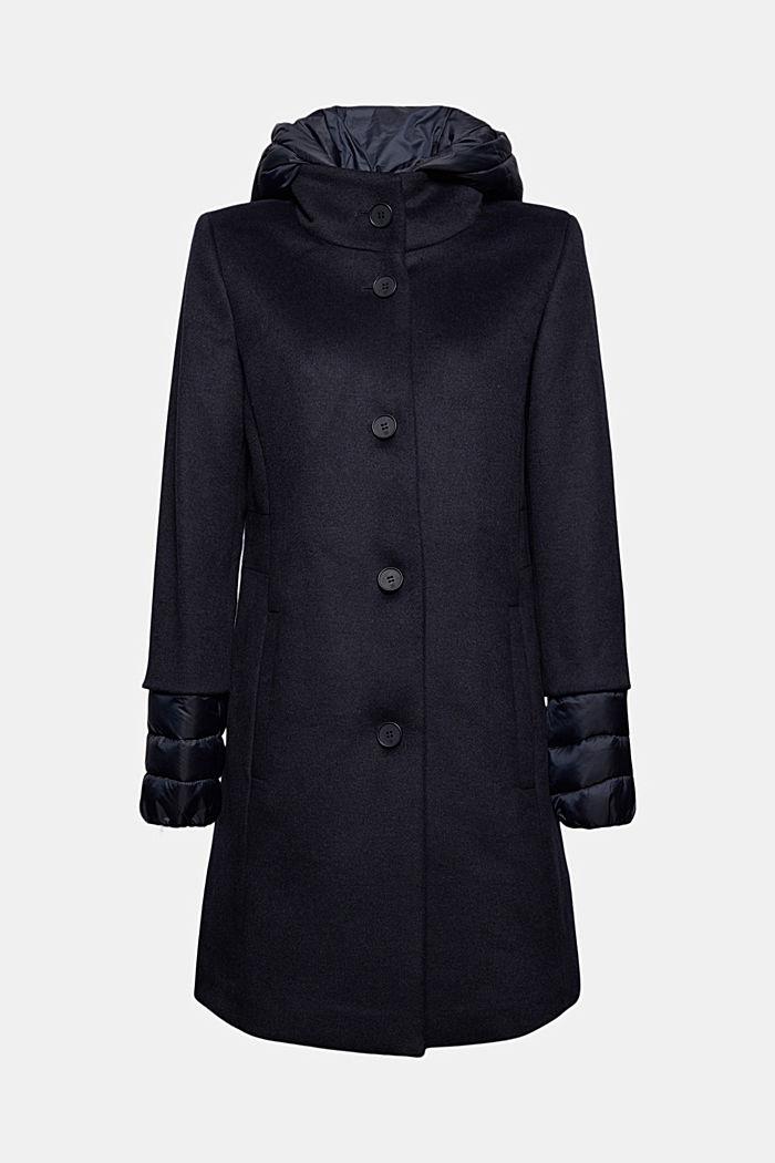 Manteau en mélange de matières, garni de 3M™ Thinsulate™