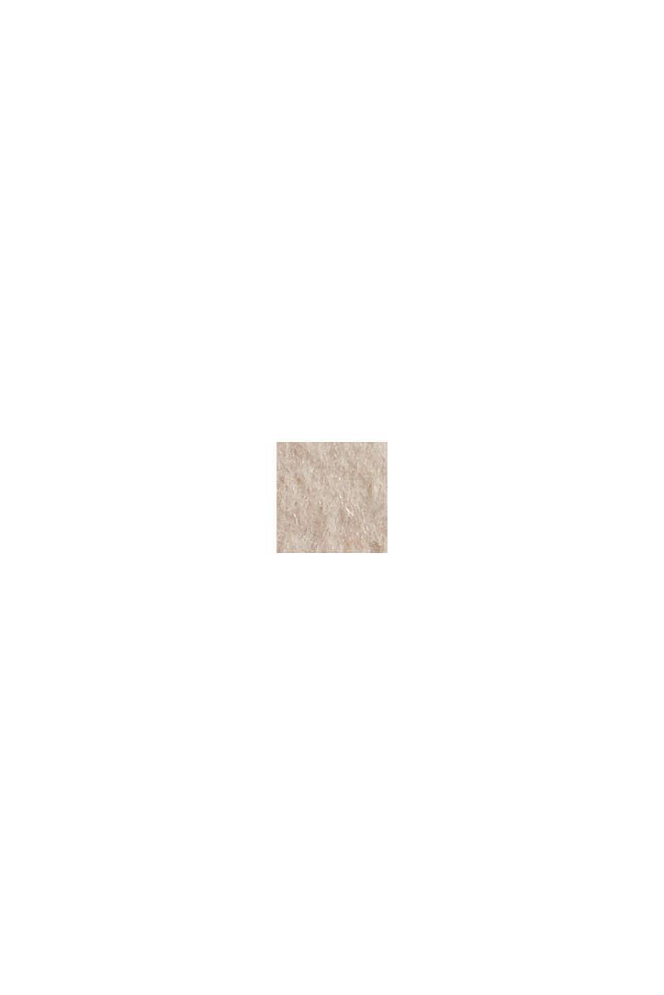 Återvunnet material: kappa i ullmix med huva, ICE, swatch