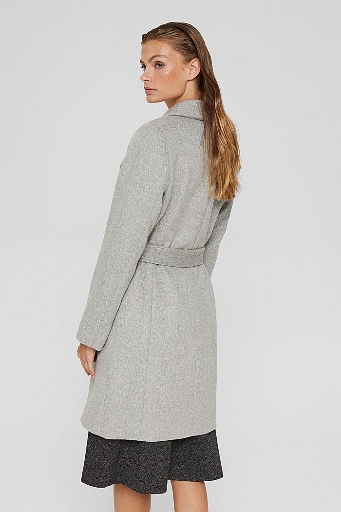 À teneur en laine: le manteau à grand col, LIGHT GREY, detail image number 3