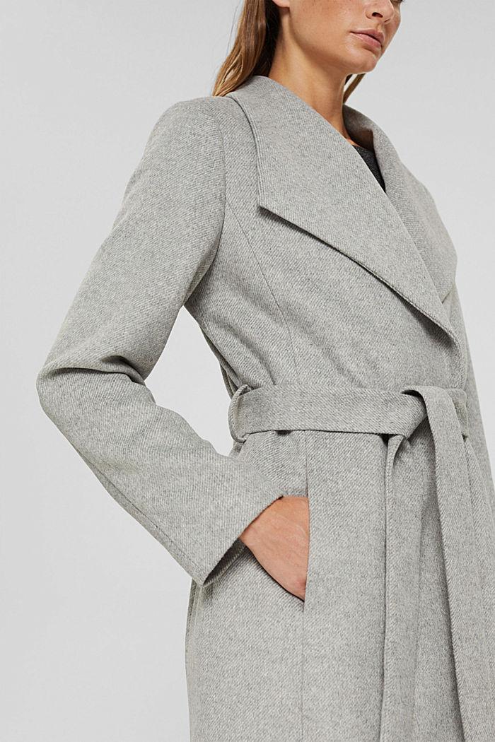 À teneur en laine: le manteau à grand col, LIGHT GREY, detail image number 2