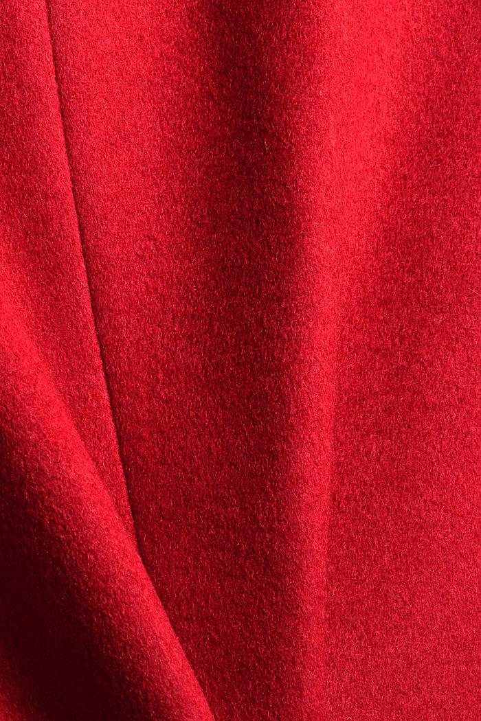 En matière recyclée: le manteau en laine mélangée à ceinture, ORANGE RED, detail image number 4