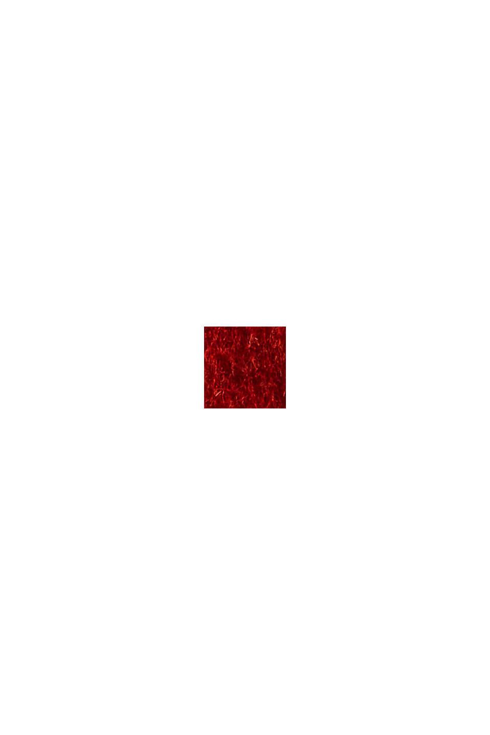 Gerecycled: mantel van een wolmix met riem, ORANGE RED, swatch