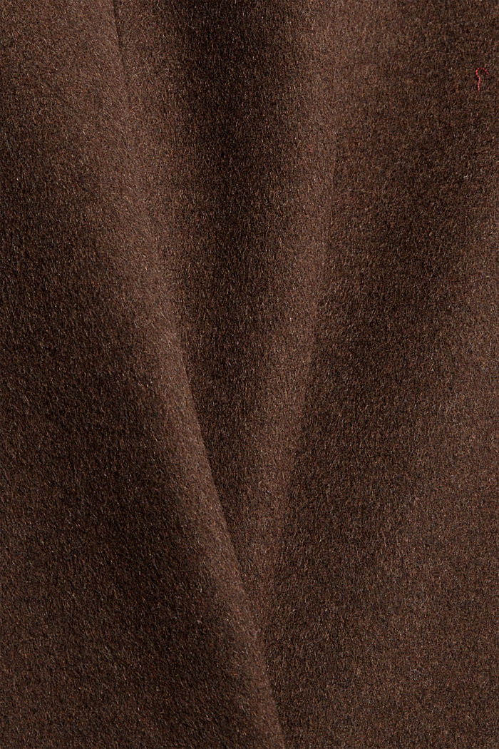 Coats woven straight, DARK BROWN, detail image number 4