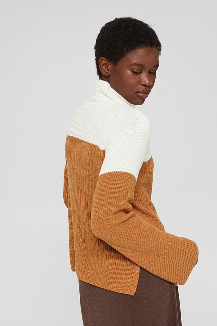 Mit Kaschmir/Wolle: Pullover mit Knopfleiste, OFF WHITE, detail image number 3