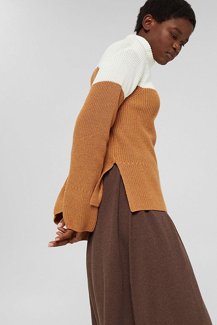 Mit Kaschmir/Wolle: Pullover mit Knopfleiste, OFF WHITE, detail image number 5