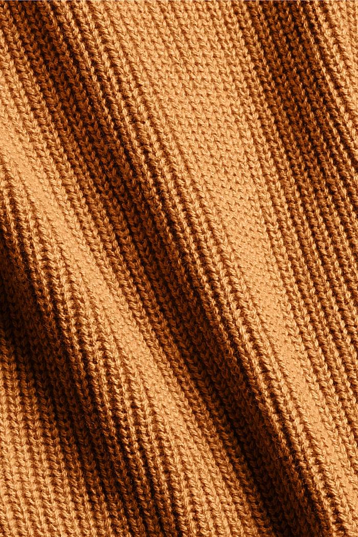 Mit Kaschmir/Wolle: Pullover mit Knopfleiste, OFF WHITE, detail image number 4