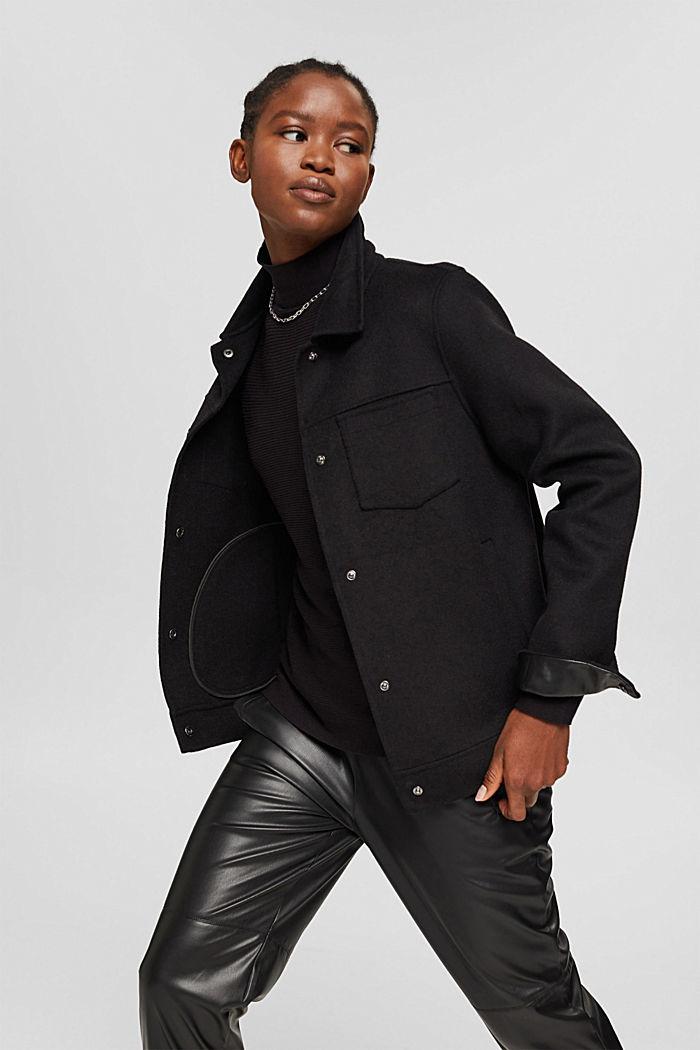 Gerippter Pullover mit LENZING™ ECOVERO™, BLACK, detail image number 5