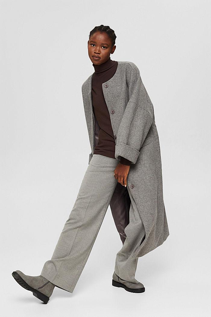 Gerippter Pullover mit LENZING™ ECOVERO™, DARK BROWN, detail image number 1