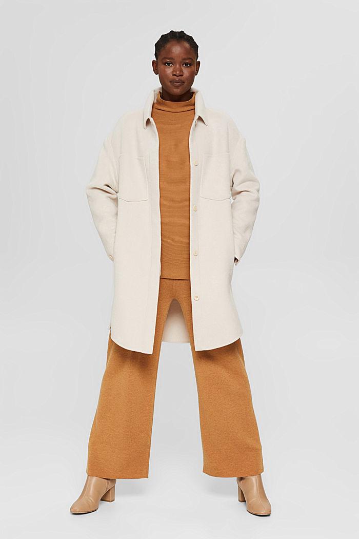 Gerippter Pullover mit LENZING™ ECOVERO™, CARAMEL, detail image number 1