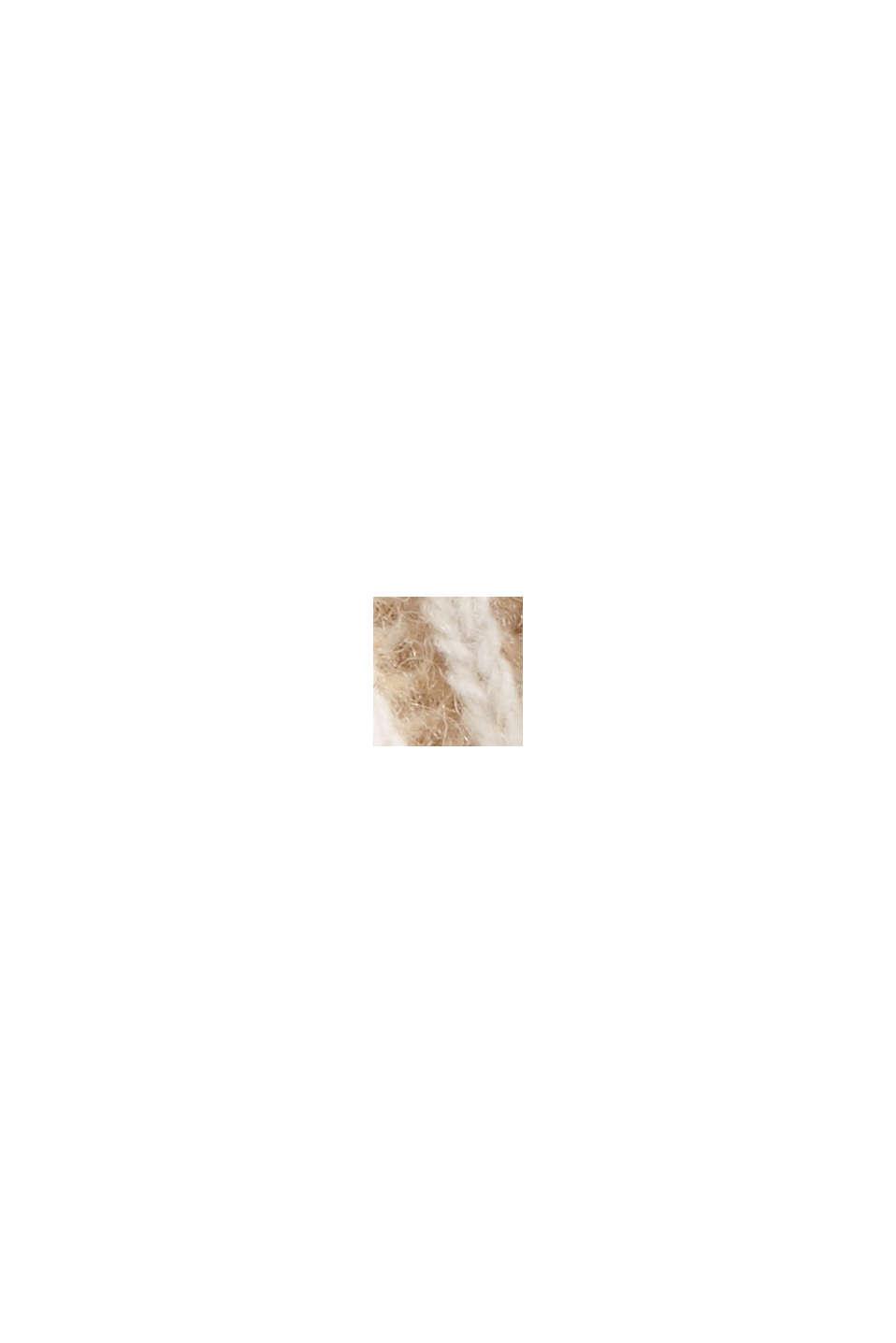 En laine mélangée: le pull-over côtelé au look bicolore, KHAKI BEIGE, swatch