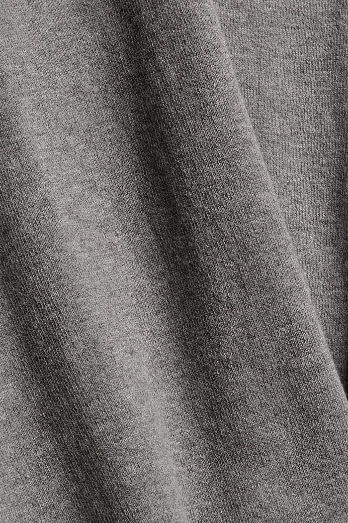 Doubleface-Pullover aus Bio-Baumwoll-Mix, GUNMETAL, detail image number 4