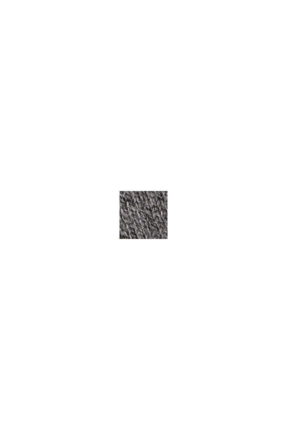 Doubleface-Pullover aus Bio-Baumwoll-Mix, GUNMETAL, swatch