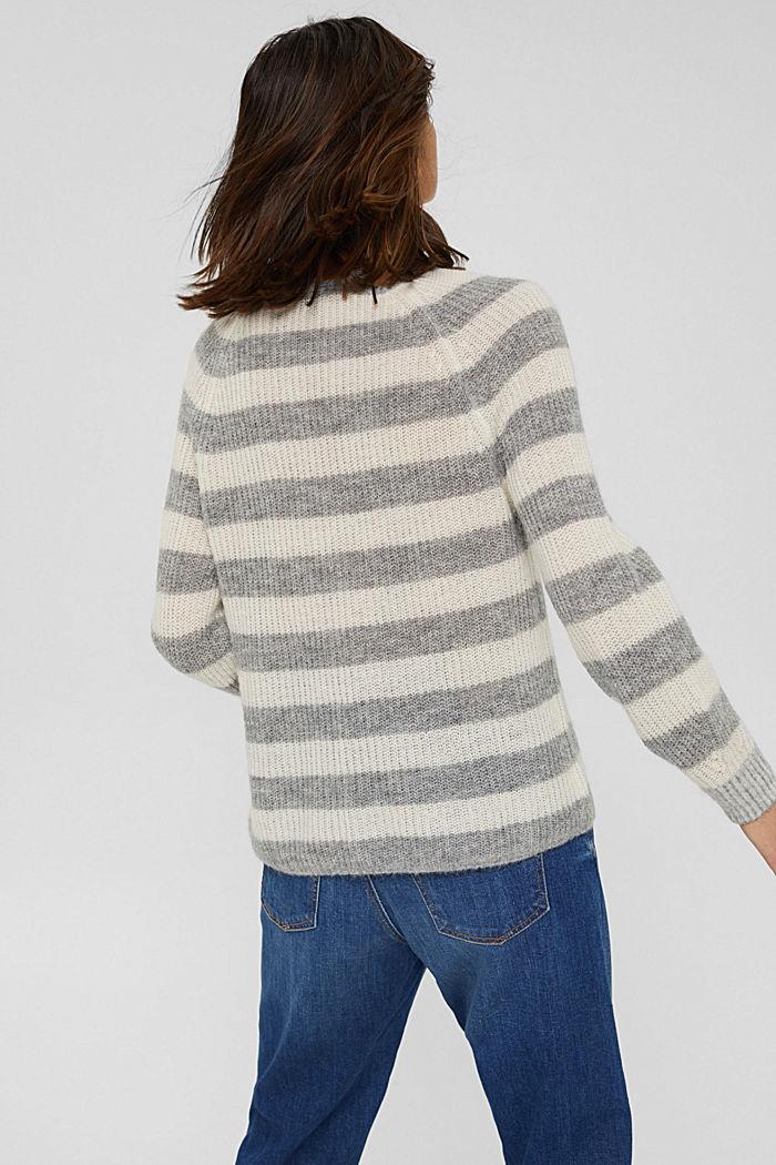 Mit Wolle/Alpaka: Pullover mit V-Ausschnitt, LIGHT GREY, detail image number 3