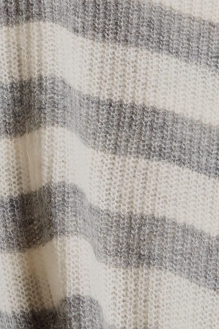 Mit Wolle/Alpaka: Pullover mit V-Ausschnitt, LIGHT GREY, detail image number 4