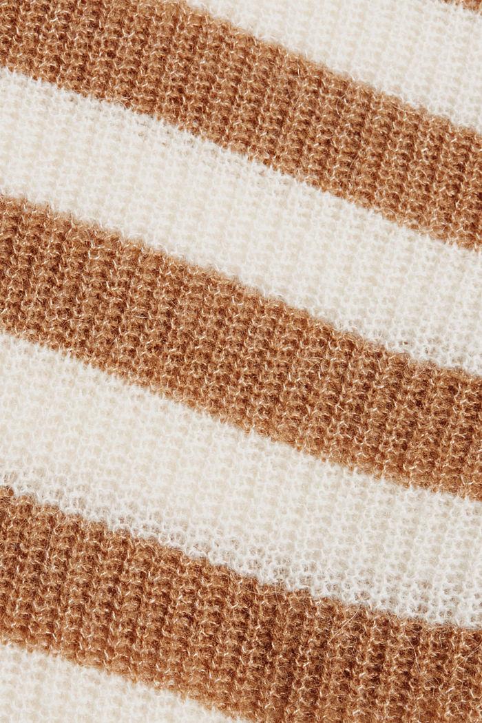 Mit Wolle/Alpaka: Pullover mit Blockstreifen, CARAMEL, detail image number 4