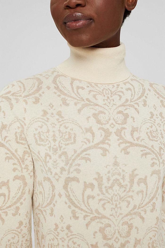 Rollkragenpullover mit Ornamentmuster, ICE, detail image number 2