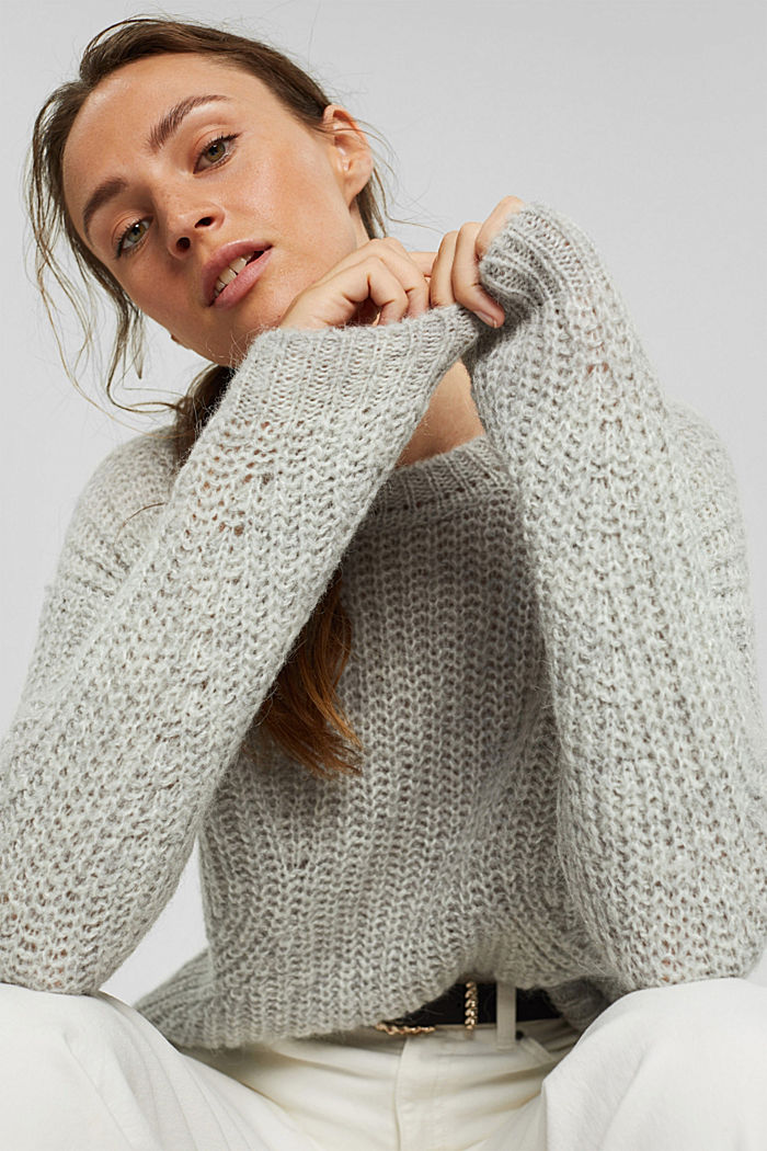 Mit Alpaka: Pullover mit Struktur