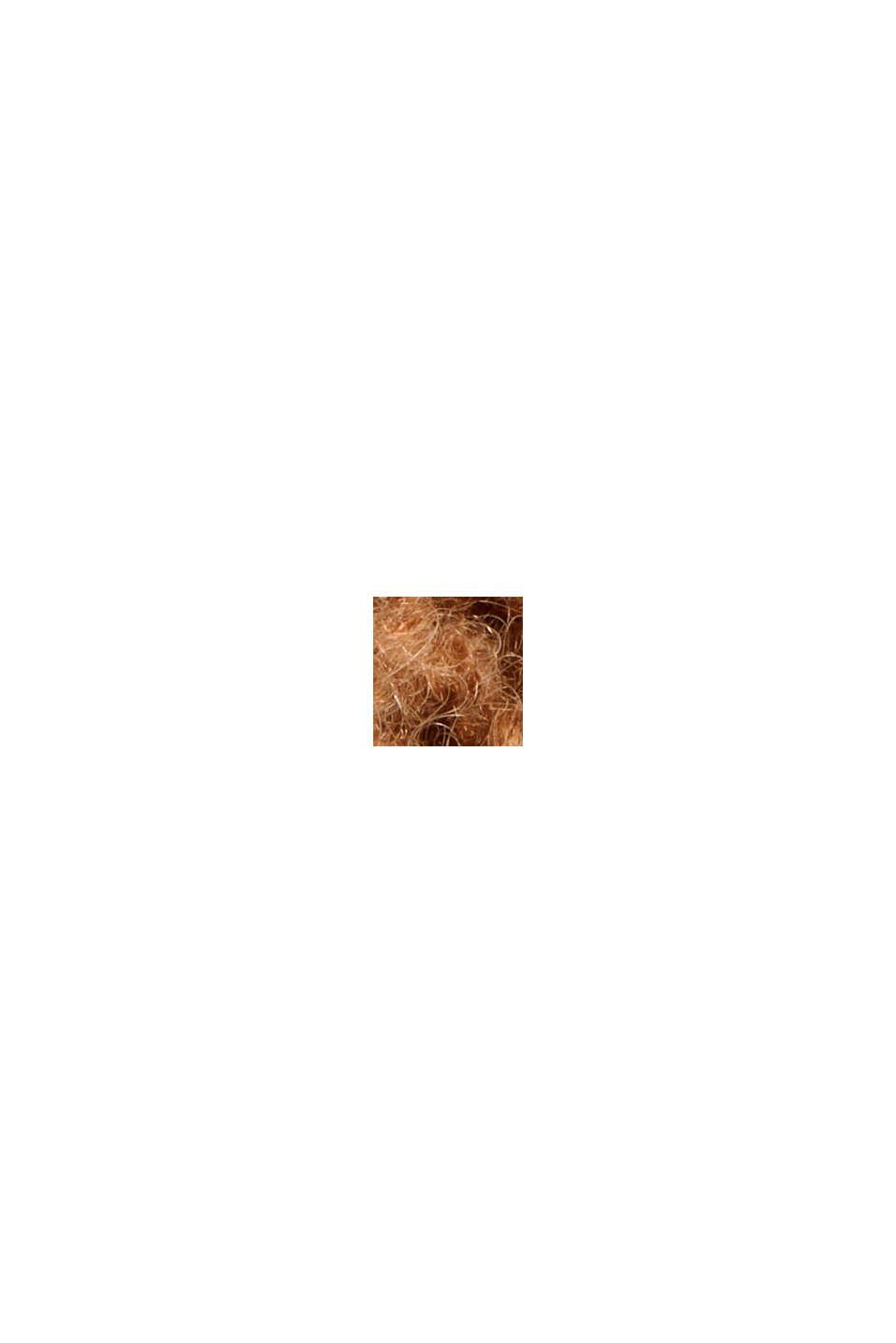 Mit Alpaka: Cardigan mit Strukturmuster, CARAMEL, swatch