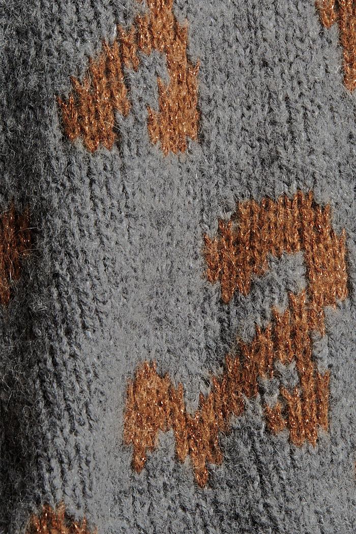 Met wol/alpaca: trui met jacquard, CARAMEL, detail image number 4