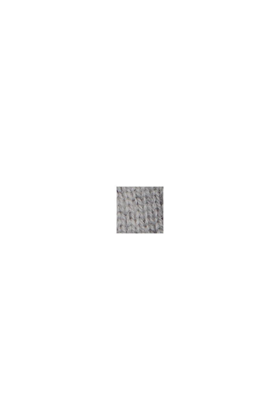 Aus Wolle/Kaschmir: Pullover mit Ballonärmeln, GUNMETAL, swatch