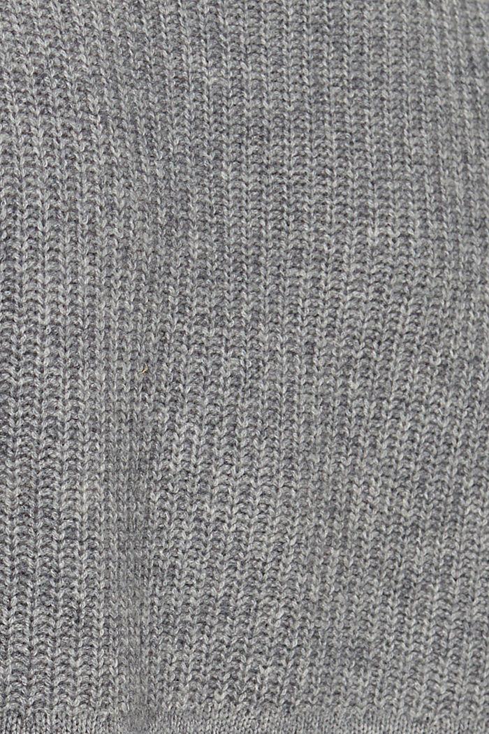 Aus Wolle/Kaschmir: Pullunder mit Stehkragen, GUNMETAL, detail image number 4