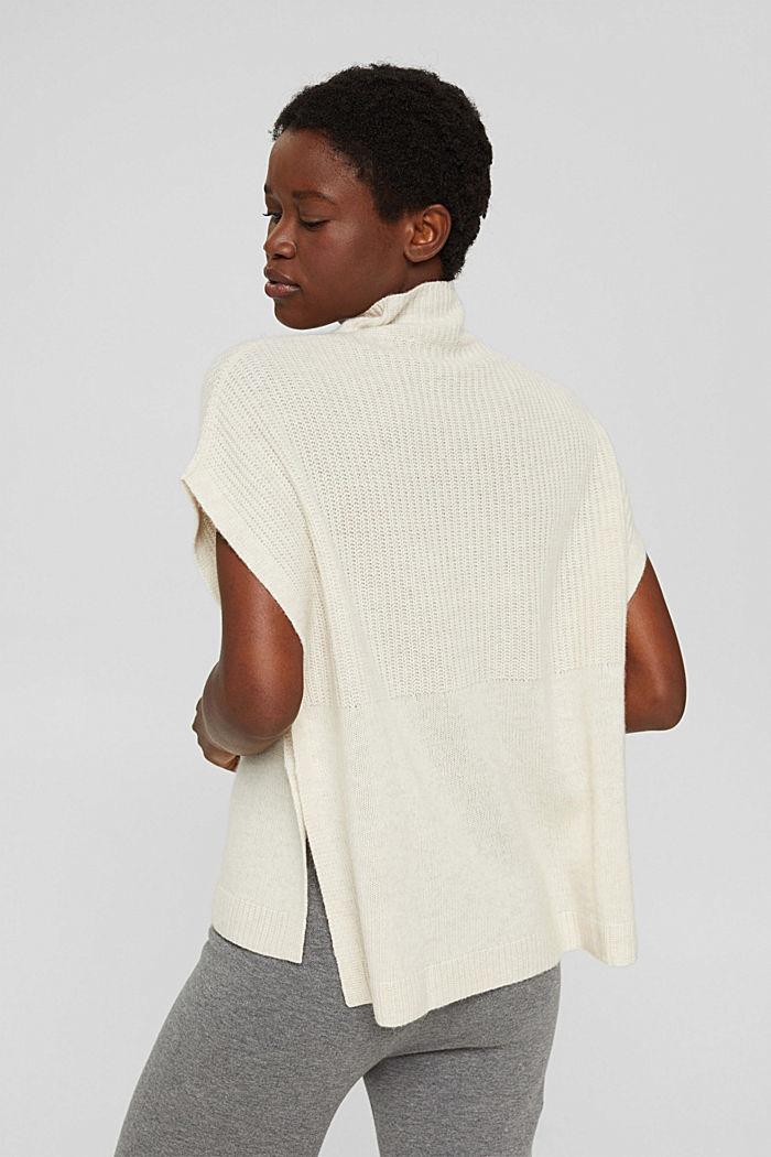 En laine/cachemire: débardeur à col droit, ICE, detail image number 3