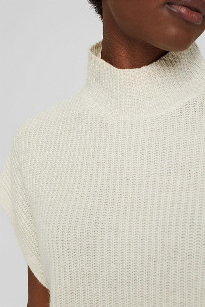En laine/cachemire: débardeur à col droit, ICE, detail image number 2